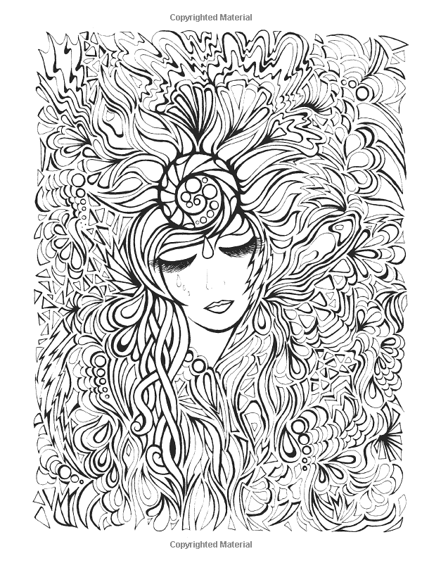 Free coloring page «coloring-adult-positive-thought». | Adult ...