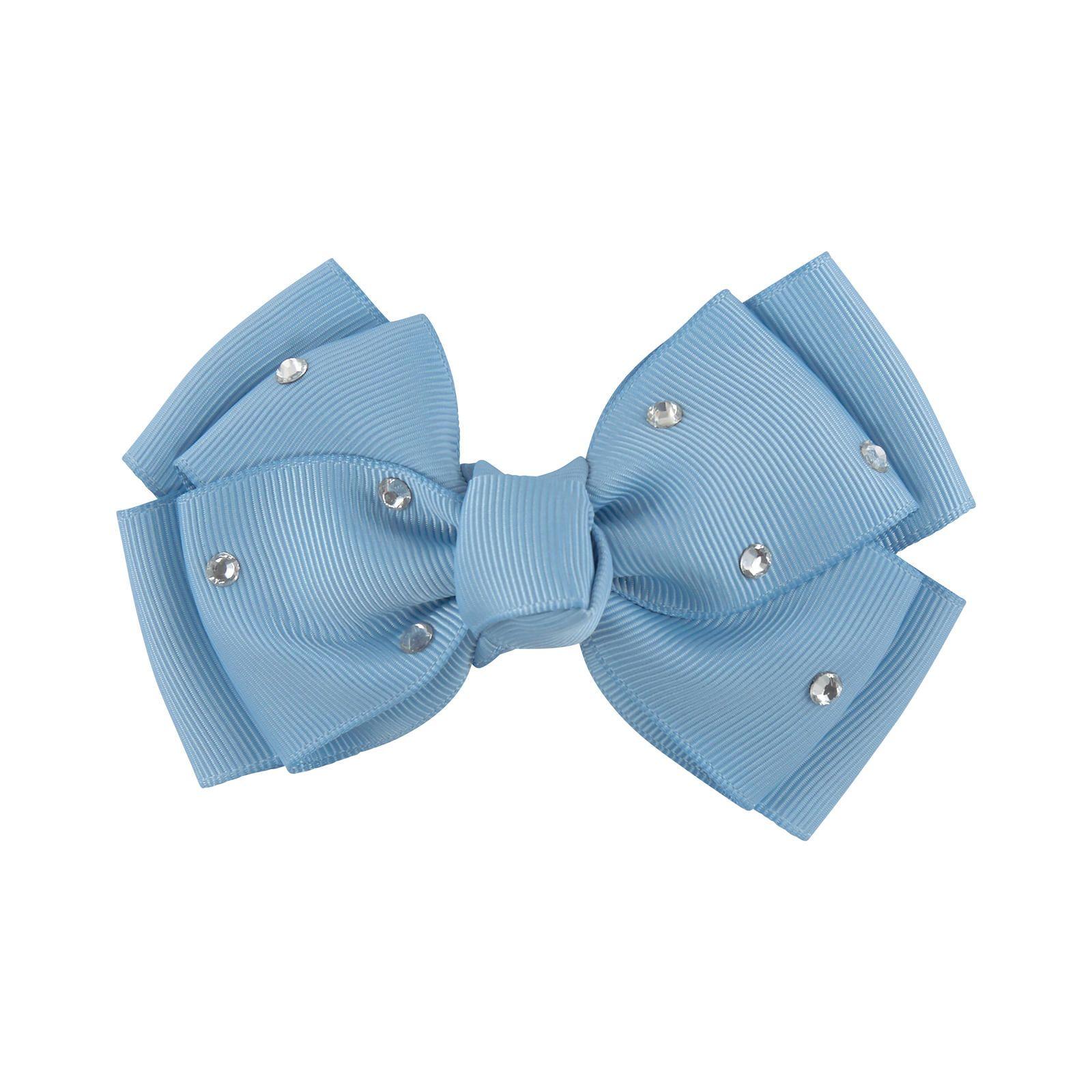 Bow hair clip with rhinestones Angel's Face для девочек | Melijoe.com