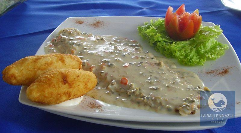 Date este gusto, come delicioso en el Hotel La Ballena Azul
