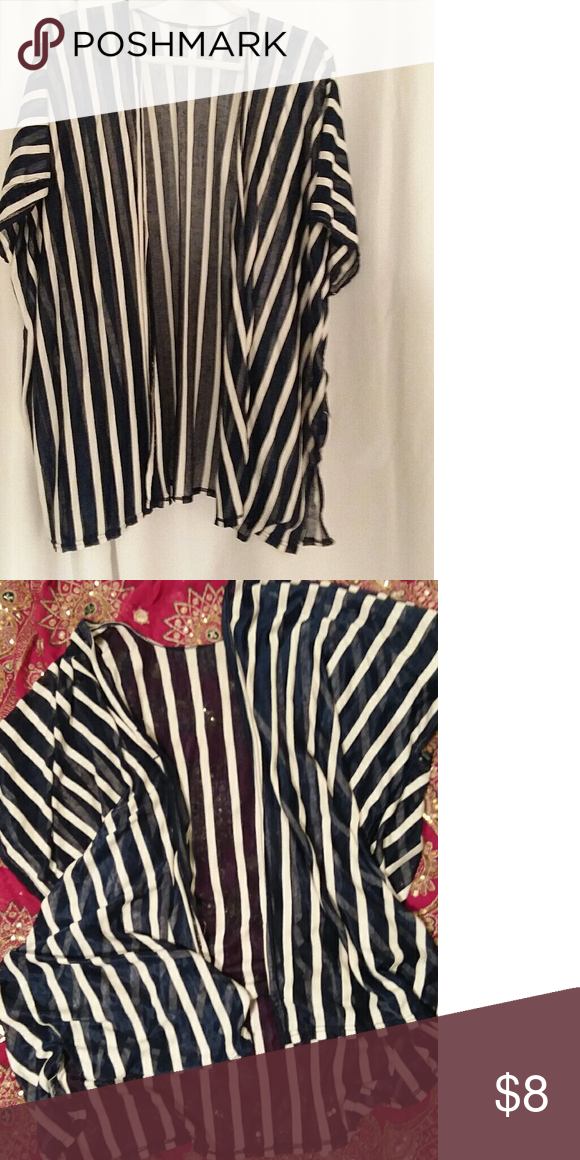 4fcde8216ea Cato 2x navy and white stripe cover Sheer cover fair condition Cato Tops