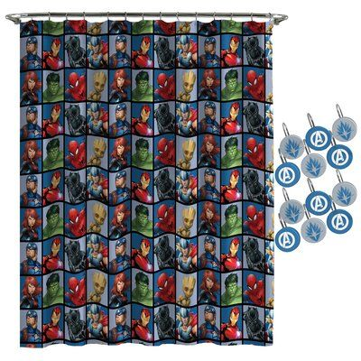 Marvel Marvel Avengers Team Shower Curtain Avengers Team Shower Curtain Avengers