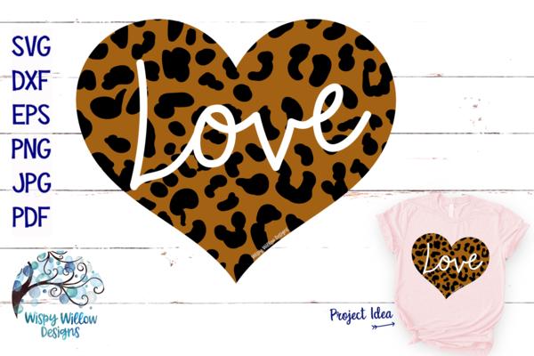 Leopard Print Love Heart SVG in 2020 Svg, Valentine