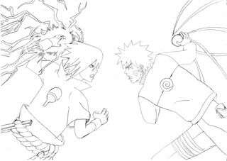 Image Result For How To Draw Naruto And Sasuke Fighting With