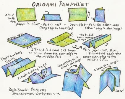 How To Make An Origami Pamphlet Book Origami Book Making Bookbinding