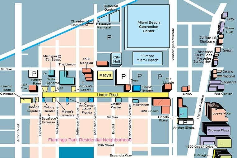 miami beach shopping map Lincoln Road Map Shopping Hotels Miami Beach Shopping miami beach shopping map