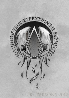 Assassins Creed Logo Tattoo Commission By Kerae On Deviantart