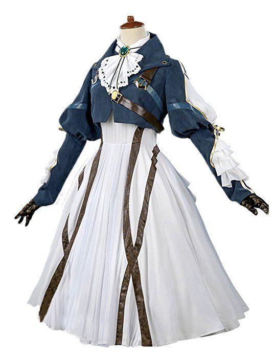 Photo of Amazon.com: Nuoqi Violet Evergarden Cosplay Costume Womens Anime Uniforms Suit D…