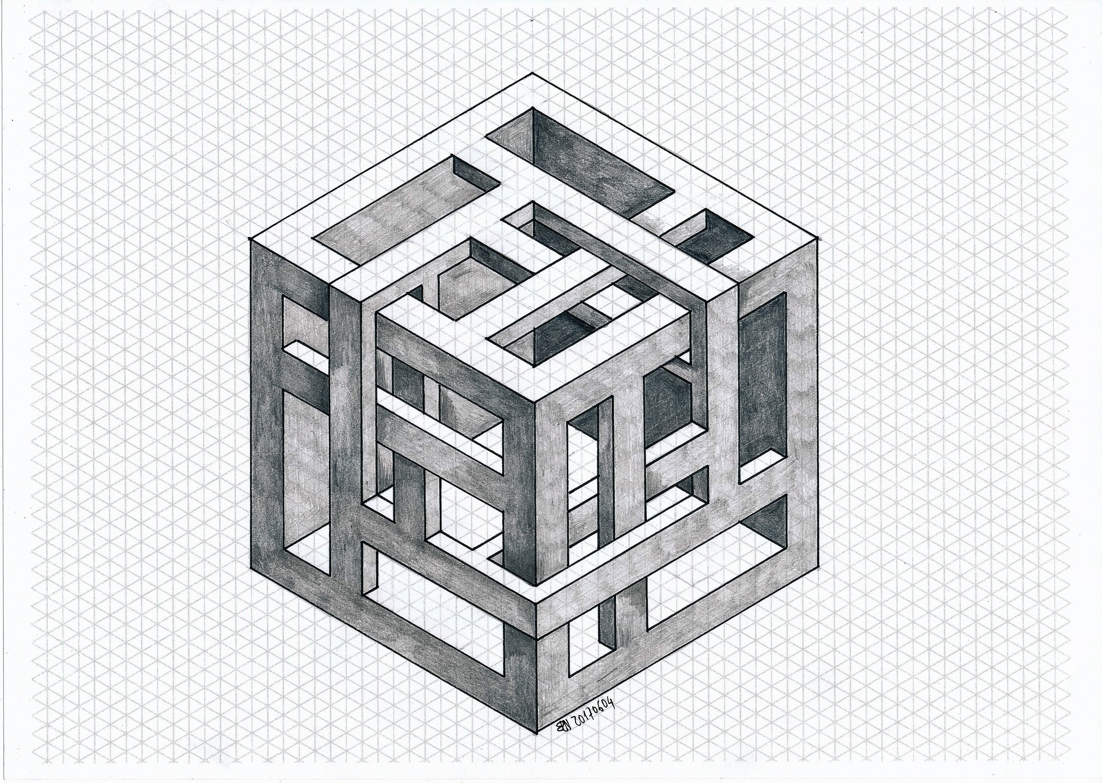 #impossible #isometric #geometry #symmetry #penrose #