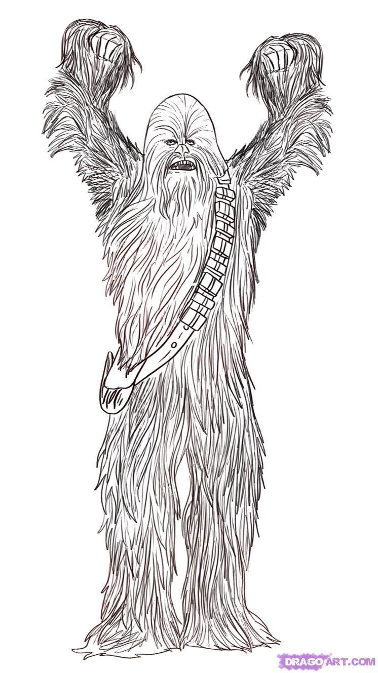 How To Draw Chewbacca The Wookie by Dawn Star wars
