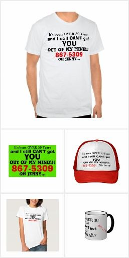 Humorous 867 5309 jenny retro vintage custom gift ideas in t shirts hats