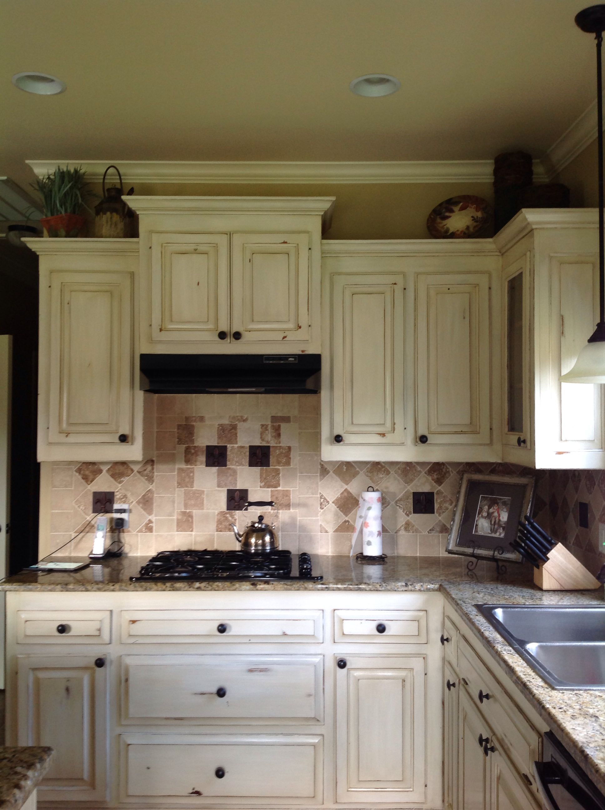 Kitchen Cabinets Painted, Distressed & Glazed by Decor ...
