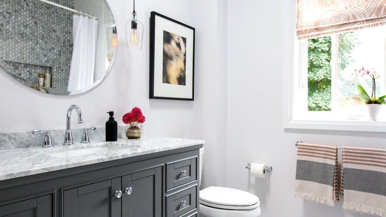 Gorgeous Bathroom Renovation Small Bathroom Design Ideas Youtube Small Bathroom Diy Small Bathroom Design Bathroom Design