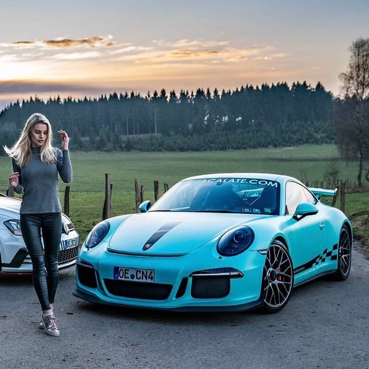 Porsche 911 Turbo Gt3: Miami Blue 991 GT3 RS With Sophia Calate