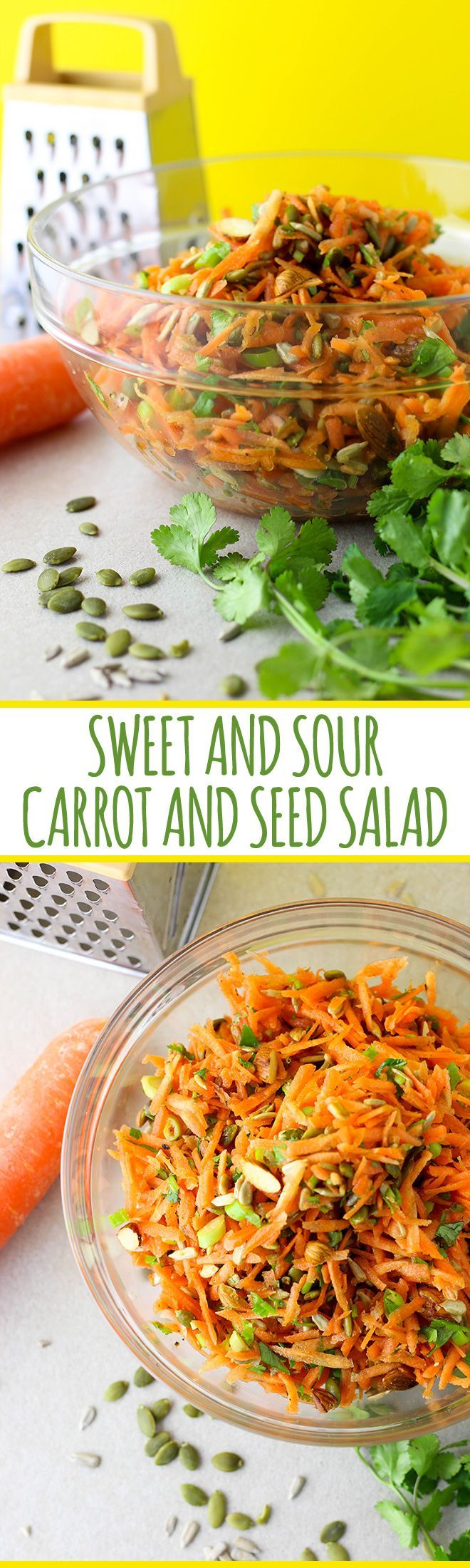 This easy salad is a great mix of crunchy, sweet and sour, and an excellent side dish to have up your sleeve. #vegan #vegetarian #glutenfree #dairyfree #salads #recipes #sides #easy #quick