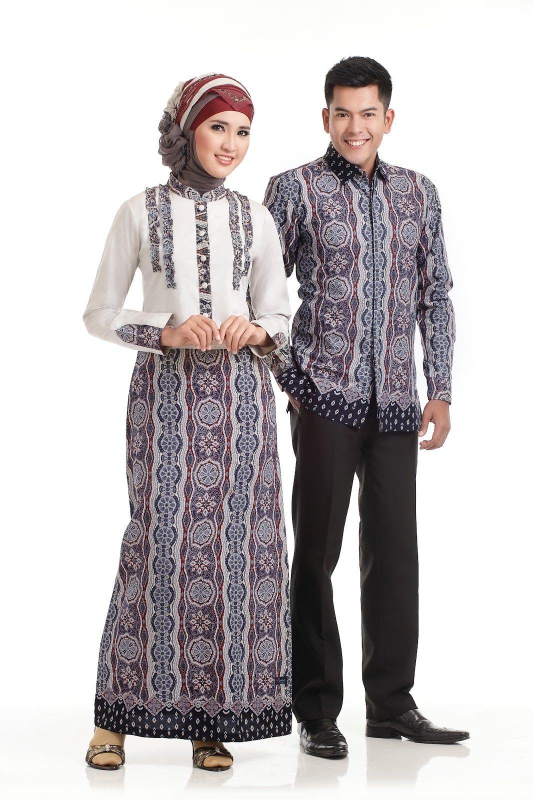 Model Desain Baju Gamis Batik Kombinasi Polos | Gaya hijab ...
