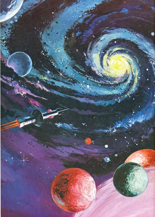 70s Sci Fi Art Space Art Art Wallpaper Psychedelic Art