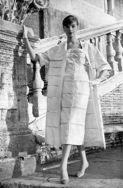 Moda Italiana Spring / Summer 1956 Iris Bianchi... | myvintagevogue