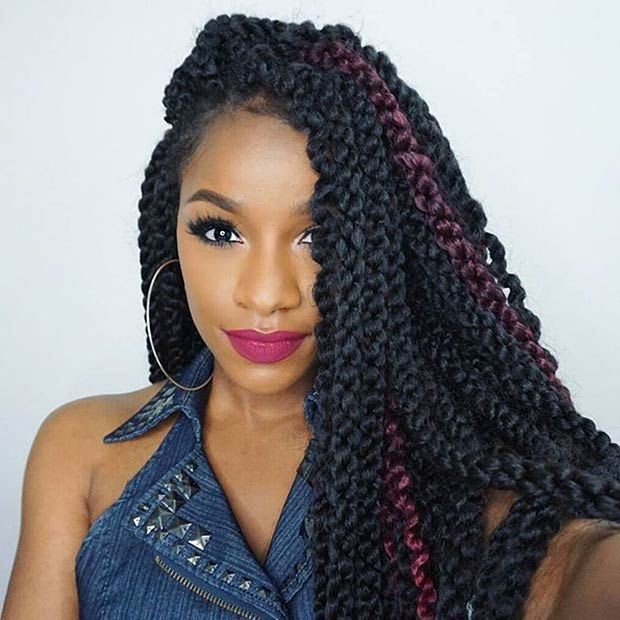 Twisties Hairstyles jumbo havana twists natural hairstyle for medium length hair 31 Stunning Crochet Twist Hairstyles