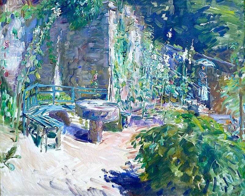Max Slevogt  Sunny corner of a garden   -   1921