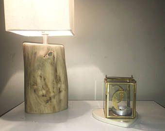 Lampe en bois flotté à la main lampe de table bois flotté lampe de