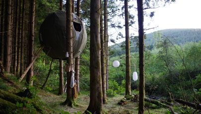 Red Kite Tree tent featured on George Clarke's amazing spaces available to rent via Sheepskinlife