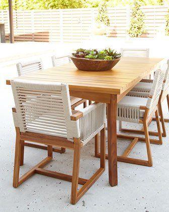 73ud Palecek San Martin Teak Outdoor Dining Table San Martin