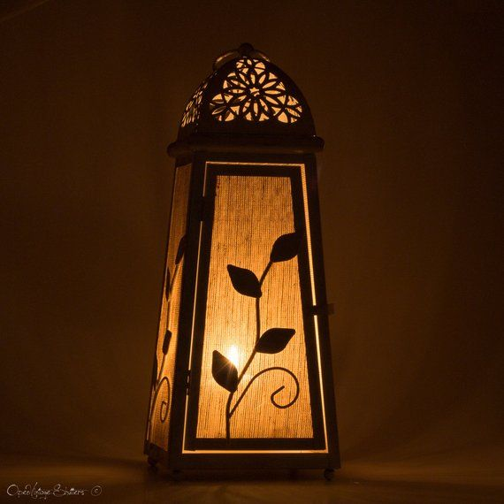 Unique Home Decor Lantern Centerpiece Floor Lamp Night Light Rustic Wedding Candle Lantern White Gold Candle Holder Housewarming Gift Rustic Candles Night Light Gold Candle Holders