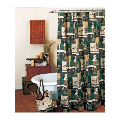 Blue Ridge Trading Dogs And Ducks Cotton Blend Shower Curtain