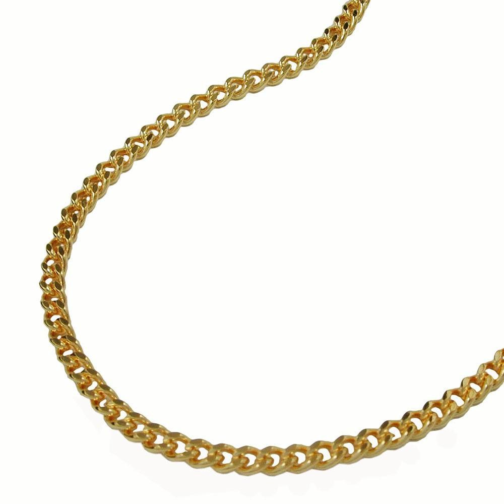 Necklace Curb Chain Gold Plated 55cm