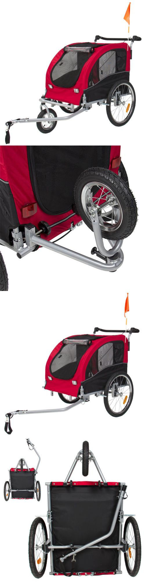 Strollers 116380 2 In 1 Pet Dog Bike Trailer Bicycle