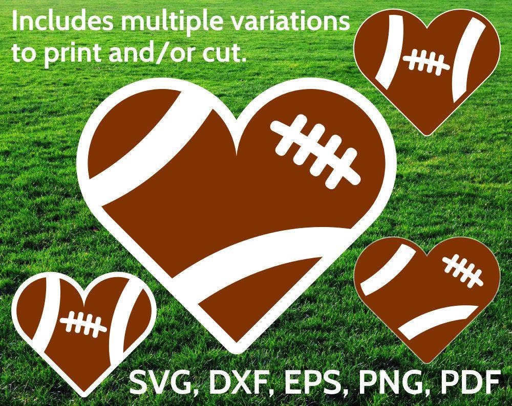 Love Football Svg Heart Clipart Football Heart Svg Svg Design