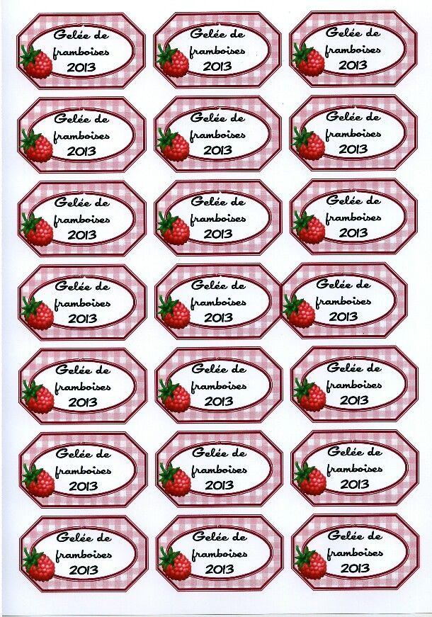 confiture de fraises imprimer mes cr ations pinterest confiture de fraises confiture et. Black Bedroom Furniture Sets. Home Design Ideas