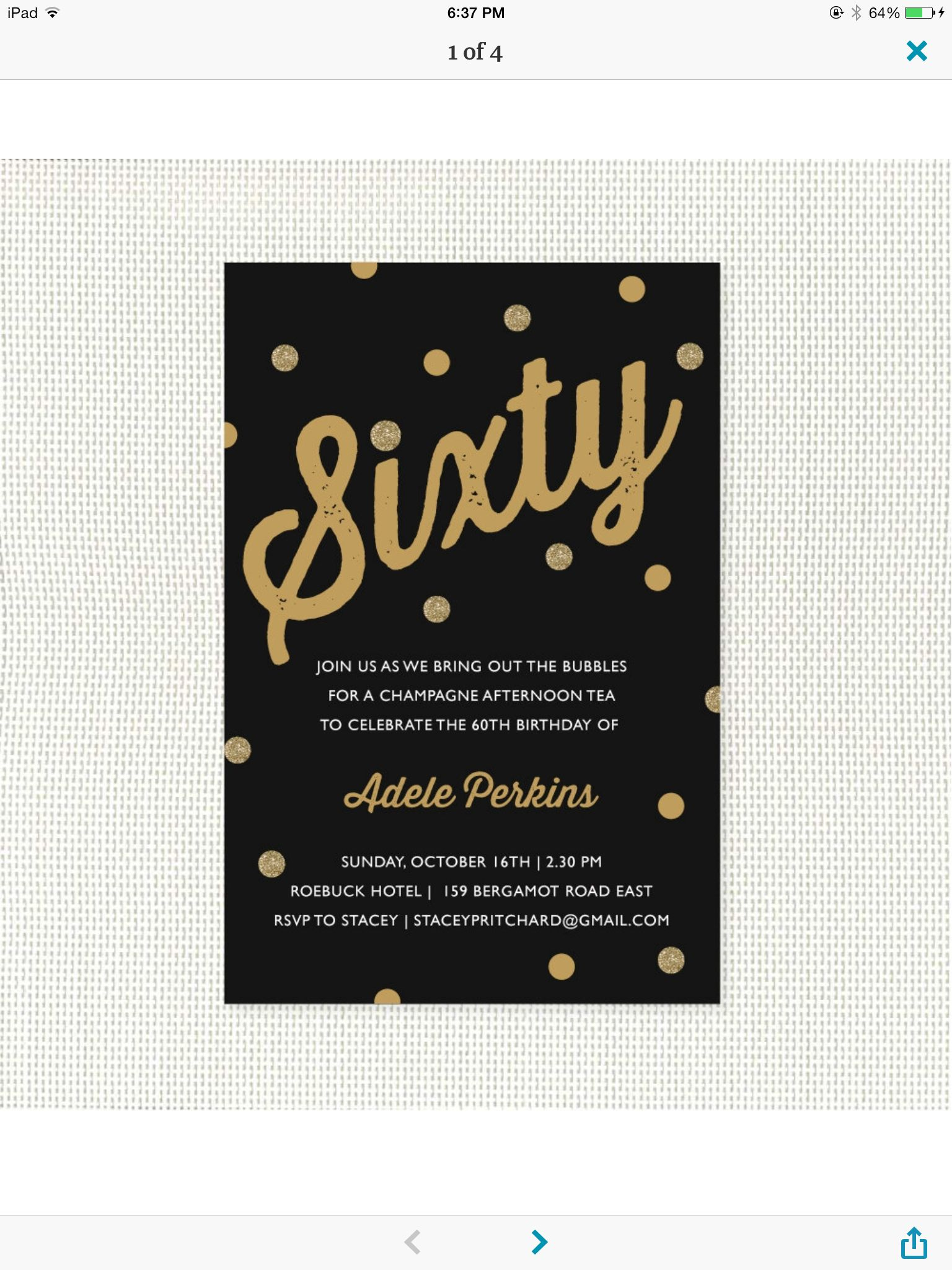 60th Birthday Party Invitations 75th Parties Ideas For Mom