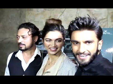 Lovebirds Ranveer Singh Deepika Padukone At Screening Of Madaari Movie Deepika Padukone Ranveer Singh Movies