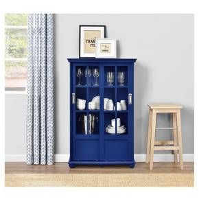 Featuring An Exceptional Design, The Ameriwood Home Aaron Lane Bookcase  With Sliding Glass Doors Is