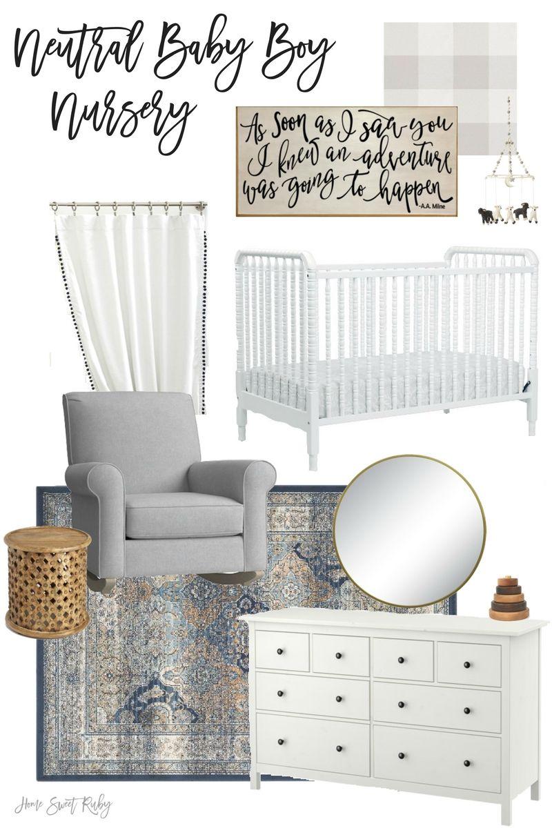Neutral Baby Boy Nursery Inspiration Home Sweet Ruby