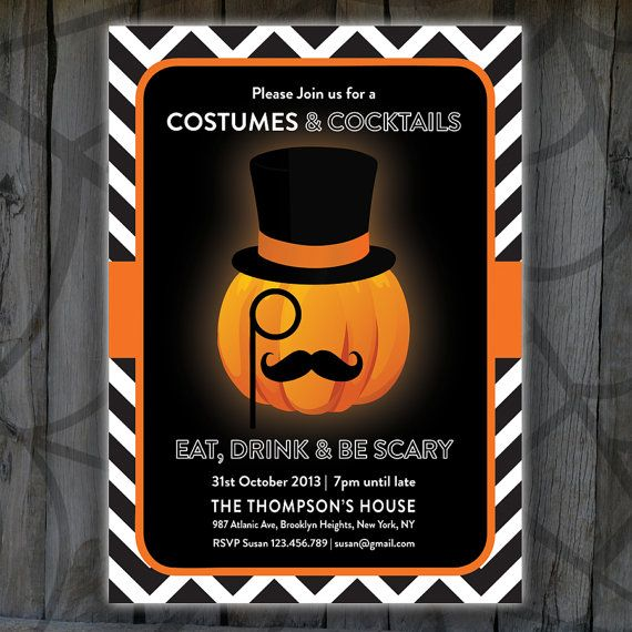 Printable Halloween Invitation Pumpkin by designbydetail on Etsy - halloween ideas party