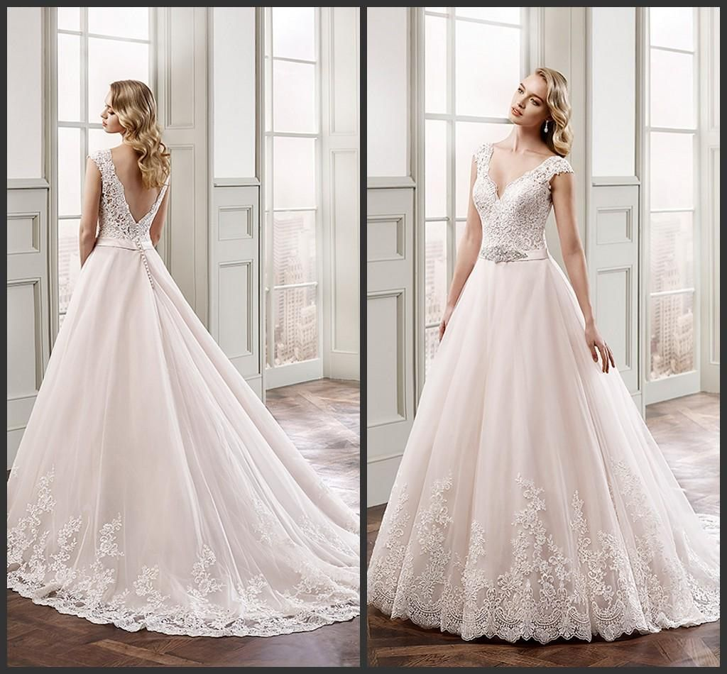 Luxury Champagne Colored Wedding Dresses with Sleeves