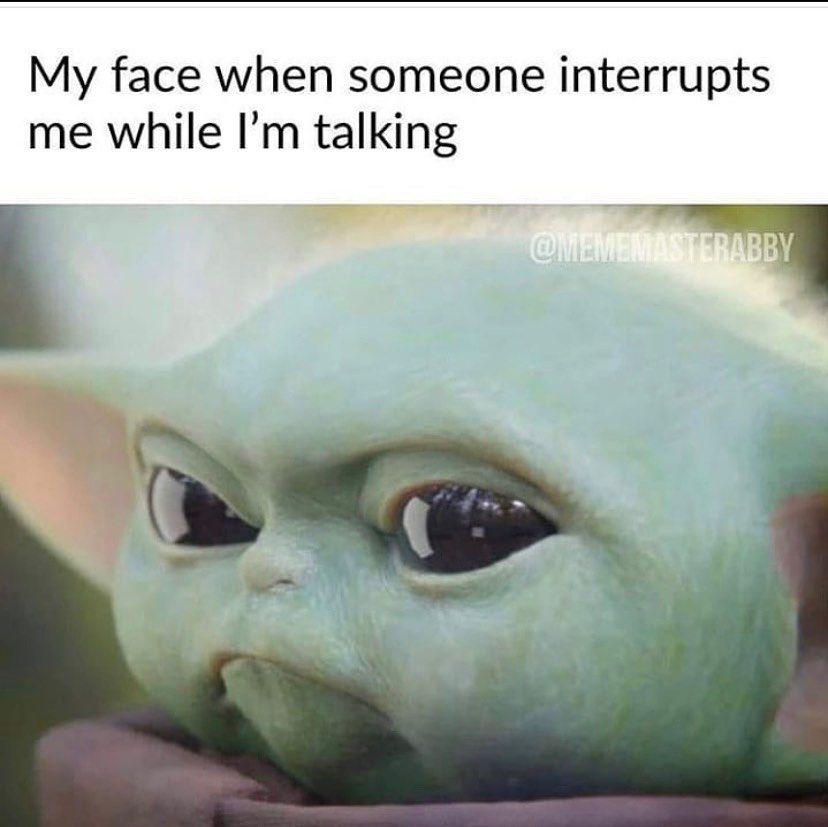 Baby Yoda On Instagram Angry I Am Yoda Funny Yoda Meme Stupid Funny Memes
