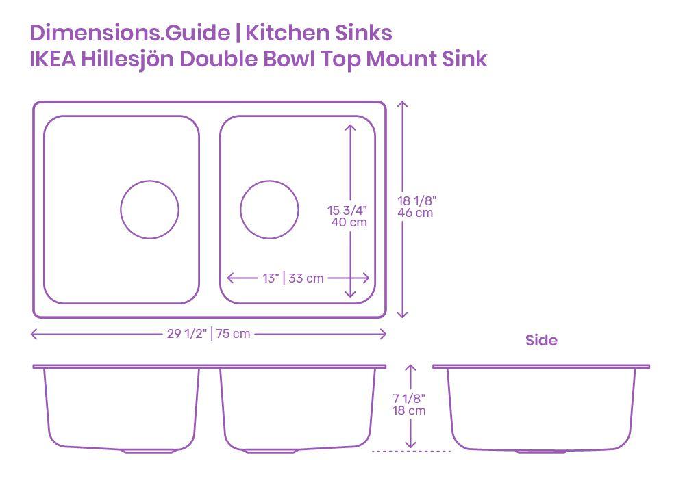Ikea Hillesjon Double Bowl Top Mount Kitchen Sink In 2020 Top Mount Kitchen Sink Sink Accessories Kitchen Sink