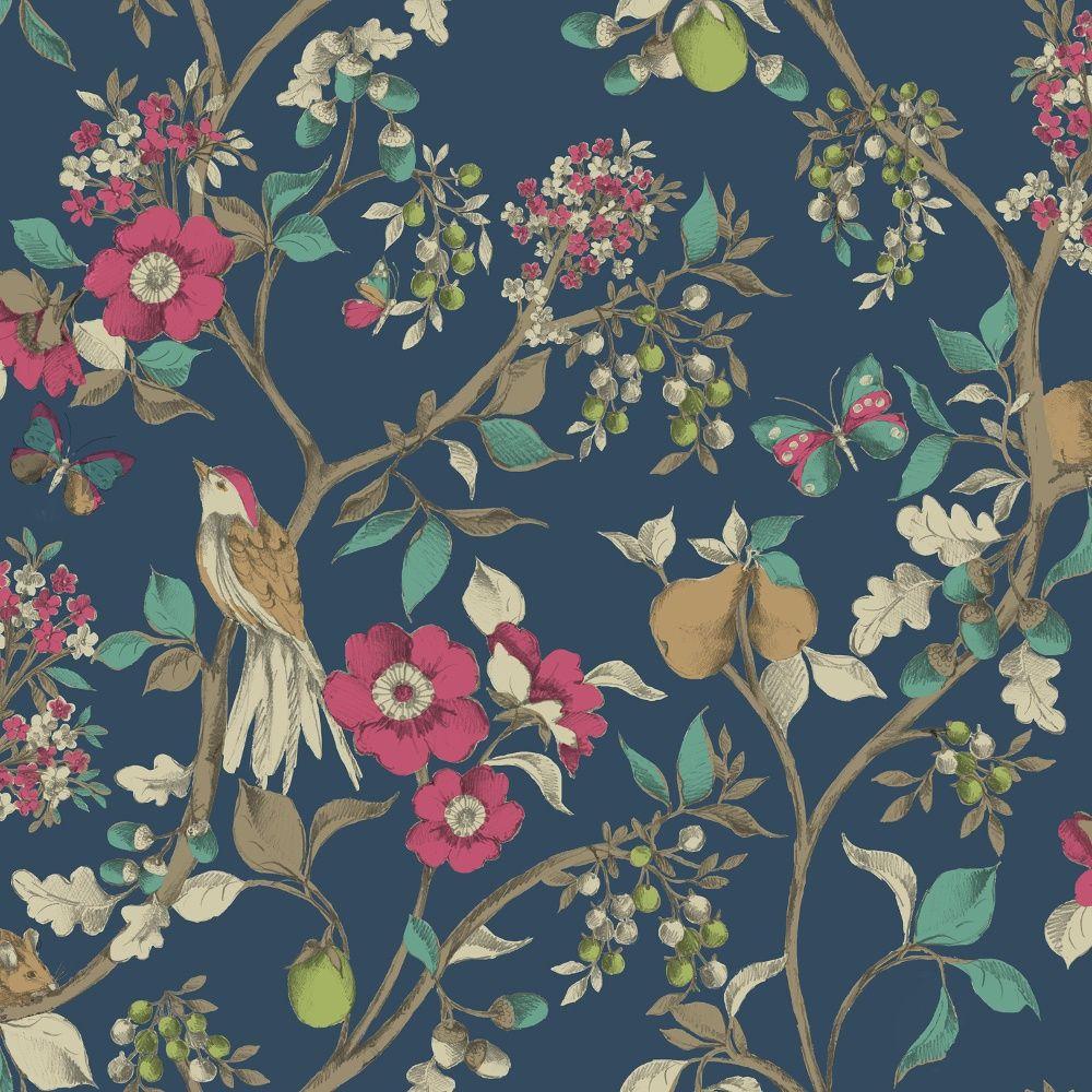 25 holden décor damsen floral pattern bird countryside metallic gold