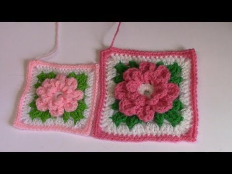 CROCHET How To #Crochet Rose Flower Granny Square Revised in HD ...