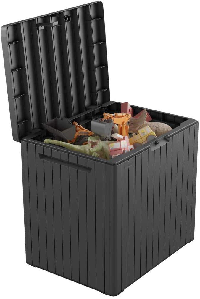 Keter Auflagenbox Gartenbox Gartentruhe Kissenbox Gartenmobel Beistelltisch Spielzeugkiste Garten Box Kissentruhe Auf Aufbewahrung Garten Kissenbox Kissentruhe