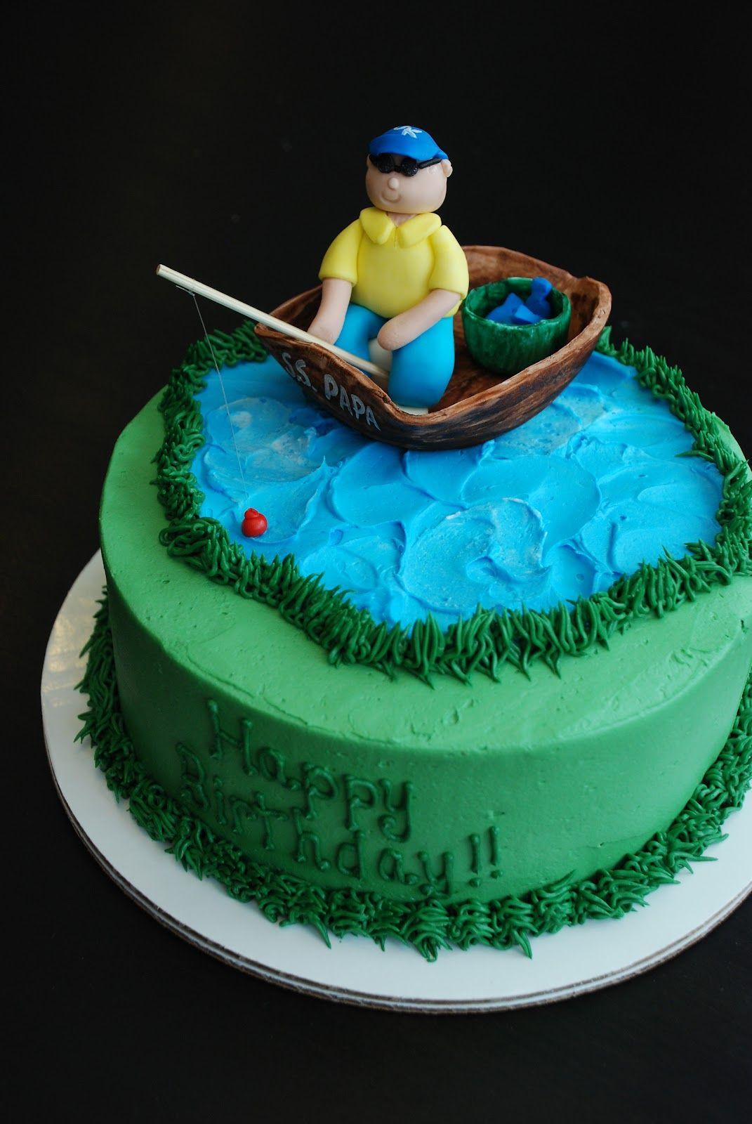 fishing cake Cakes Men Pinterest Fishing cakes Cake and
