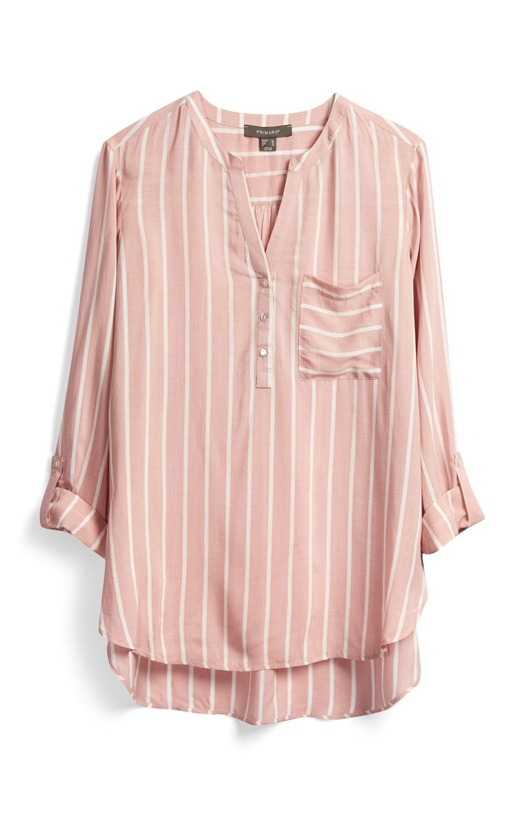 09904f590e81ad Primark - Pink Striped Tunic Primark, Pink Stripes, Bell Sleeves, Bell  Sleeve Top