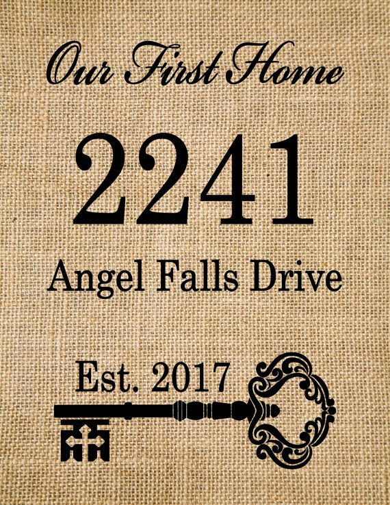 This Unique home address burlap print wall art- is personalized with ...