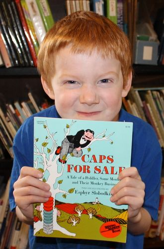 Our family's week with Caps for Sale, a Before Five in a Row title I amped up a bit to use with 7 of my children (4th grade and under). #FIAR #Homeschool