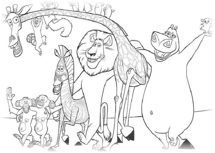 Madagascar Ausmalbildd Ritider Fodelsedag