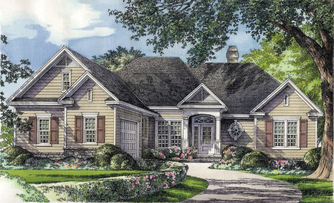 Home Plan The Adcox by Donald A. Gardner Architects