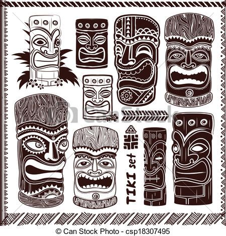 tiki face symbols and meanings google search origami pinterest
